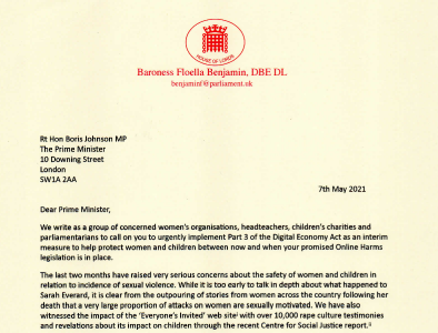 An open letter to the Prime Minister from teachers, charities and Baroness Benjamin